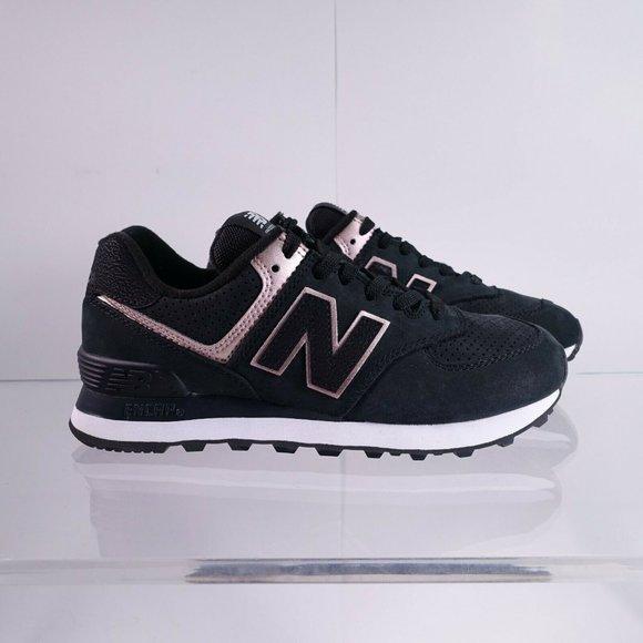 New Balance 574 Casual Shoes WL574NBK Black/Rose